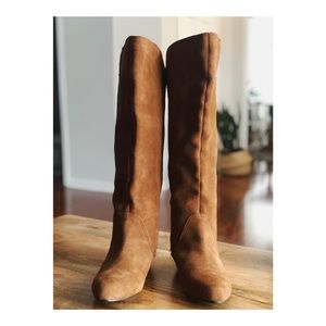 Steven by Steve Madden Brown Suede Limberr Boots